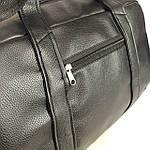Спортивна шкіряна сумка чоловіча жіноча дорожня сумка Puma кожзам чорна, фото 2