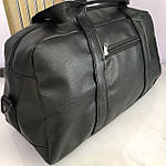 Спортивна шкіряна сумка чоловіча жіноча дорожня сумка Puma кожзам чорна, фото 5