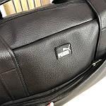 Спортивна шкіряна сумка чоловіча жіноча дорожня сумка Puma кожзам чорна, фото 10