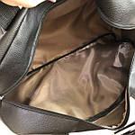 Спортивна шкіряна сумка чоловіча жіноча дорожня сумка Puma кожзам чорна, фото 6