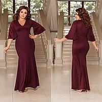 ЖІноче  довге плаття з напиленням , 3 кольори.Р-ри 42-58, фото 1