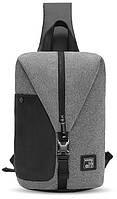 Модный городской однолямочный рюкзак Arctic Hunter XB00061 для бизнеса и путешествий, влагозащищённый, 5л Темно-серый