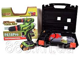 Акумуляторний шуруповерт PROCRAFT PA 18 PRO з DFR патроном