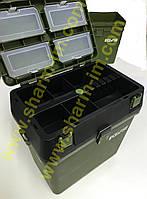 Рибальський ящик для зимової риболовлі Eclipse Зелений висота 38х37х25 см