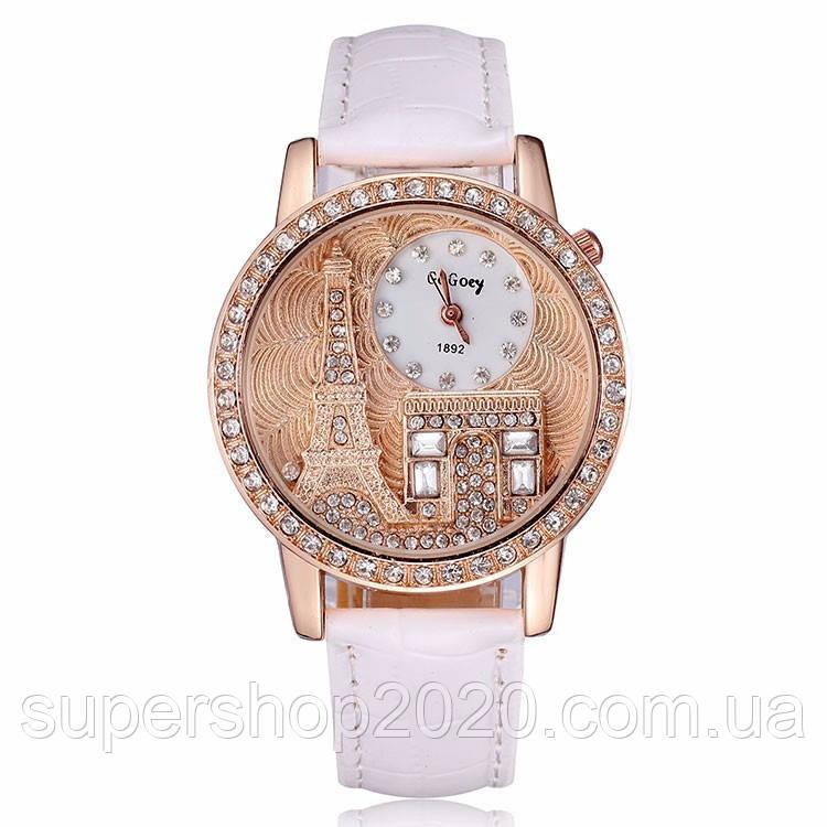 Жіночі годинники GoGoey, ремінець білого кольору