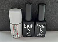База и топ для гель-лака Коди + бонд (Rubber Base Kodi 12 ml + Rubber Top Kodi 12 ml + Ultrabond Kodi)