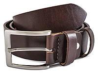 Ремень коричневый 125*3,8 см из толстой кожи Helford