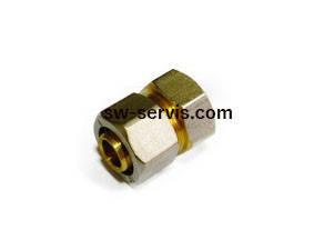 Муфта для металопластикових труб 26*1 з внутрішньою різьбою