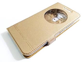 Чехол книжка с окошком momax для Asus Zenfone 3 ZE520KL золотой