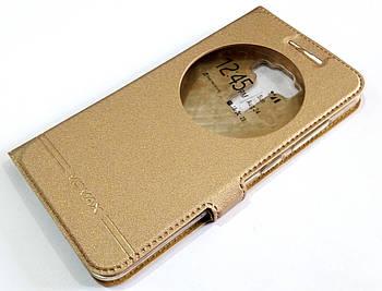 Чехол книжка с окошками momax для Asus Zenfone 3 ZE552KL золотой