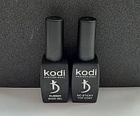 Rubber Base Kodi 12 ml + Rubber Top Kodi no sticky 12 ml \ База и Топ Коди без липкого слоя 12 мл