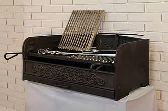 Барбекю - чугунная вставка - шириной 970 мм