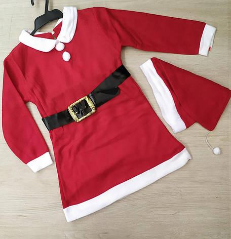 Детское новогодние платье Дед Мороз р.7-9 лет опт, фото 2