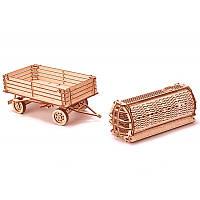 """Конструктор деревянный 3D """"Прицеп к трактору"""""""