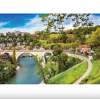 Пазлы 1500 элементов Швейцария.Настольная игра для детей и взрослых.