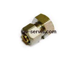 Муфта для металопластикових труб 16*3 4 з внутрішньою різьбою