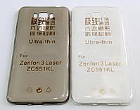 Чехол для Asus Zenfone 3 Laser ZC551KL силиконовый ультратонкий прозрачный, фото 2