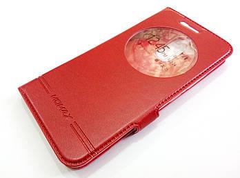 Чехол книжка с окошком momax для Asus Zenfone 3 Max ZC520TL красный