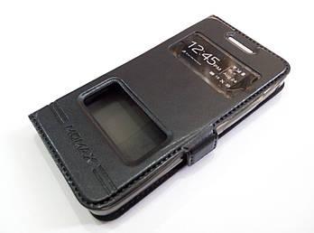 Чехол книжка с окошками momax для Asus Zenfone 4 A400CG черный
