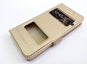 Чехол книжка с окошками momax для Asus Zenfone 4 A400CG золотой