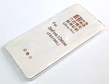 Чехол для Asus Zenfone 3 Deluxe ZS570KL силиконовый ультратонкий прозрачный