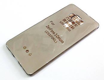 Чехол для Asus Zenfone 3 Deluxe ZS570KL силиконовый ультратонкий прозрачный серый