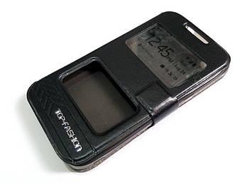 Чехол книжка с окошками momax для HTC Desire 320 черный
