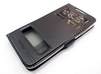 Чехол книжка с окошками momax для HTC Desire 516 dual sim черный
