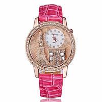 Женские часы GoGoey,ремешок малинового цвета