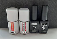 Rubber Base Kodi 8 ml + Rubber Top Kodi 8 ml + Ultrabond Kodi 15 ml + Nailfresher 15 ml
