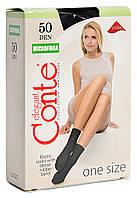 Носки женские Conte Microfibra 50 Den 8С-10СП, универсальный размер, nero, 1 пара
