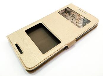 Чехол книжка с окошками momax для HTC Desire 820 / 820g+ dual sim / 820 dual sim золотой