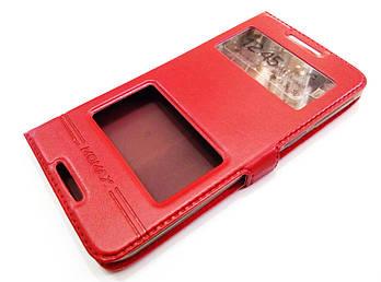 Чехол книжка с окошками momax для HTC Desire 820 / 820g+ dual sim / 820 dual sim красный