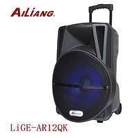 Акумуляторная колонка с микрофоном UF-AR12QK 120W (FM/USB/Bluetooth)Супер звук!