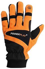 Рукавиці лижні PowerPlay 6906 Оранжеві M (Універсальні зимові). Дефект