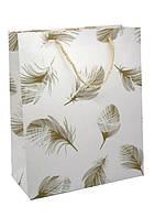 Пакет подарочный (26*32*12) перья