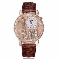 Женские часы GoGoey,ремешок коричневого цвета