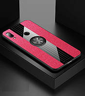 Чехол X-Line для Xiaomi Redmi Note 7 / Note 7 Pro бампер накладка с подставкой Black-Red, фото 1