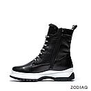 Ботинки женские зимние кожаные на шнурках b 8977-2s, фото 4