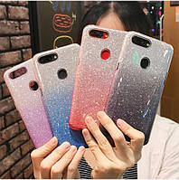 Силиконовый чехол с блестками - градиент для Huawei Honor 20 Pro (выбор дизайна)