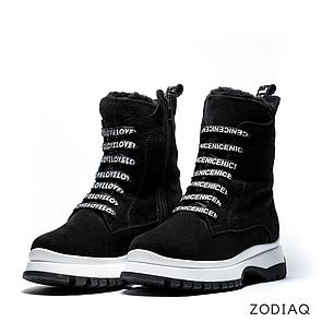 Ботинки женские зимние замшевые на шнурках b 8977-11s