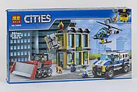 Конструктор Bela Cities 10659 Ограбление на бульдозере, копия Lego City, фото 1