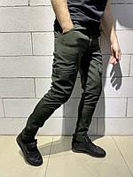 Теплые карго штаны Intruder SoftShell хаки на флисе