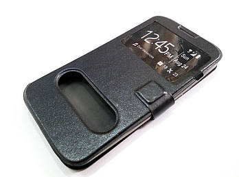 Чехол книжка с окошками momax для Huawei Ascend G730 черный
