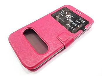 Чехол книжка с окошками momax для Huawei Ascend G730 розовый
