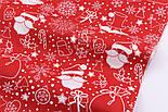 """Отрез ткани """"Санта Клаус с мешком и подарками"""" №2548, размер 64*240, фото 3"""