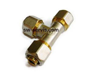 Трійник для металопластикової труби 26*26*26 гросс