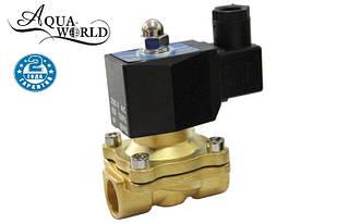 """Клапан 3/4"""" 20 мм, нормально открытый электромагнитный Aqua-World ВКл001-20о"""