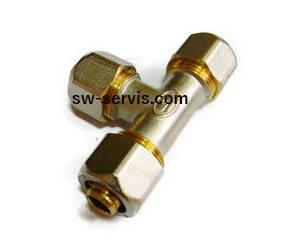 Трійник для металопластикової труби 32*32*32 гросс