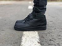 Мужские зимние кроссовки Nike Air Force Mid Winter Black